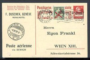 Schweiz-Ganzsache-mit-Zusatzfrankatur-MiNr-145-Mischfrankatur-Q11907