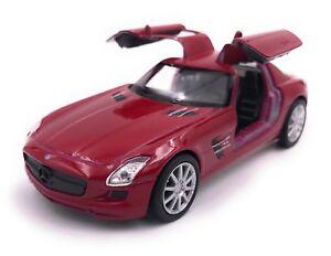 Mercedes-Benz-SLS-AMG-Coche-a-Escala-Auto-Producto-de-Licencia-1-3-4-39-Rojo