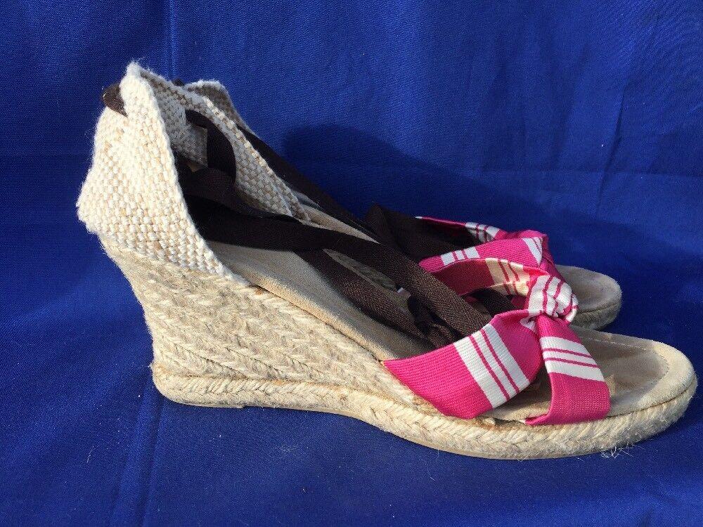 SALE @ J CREW Pink Espadrilles Wedges Platforms High Heels Damenschuhe Schuhes Größe 9