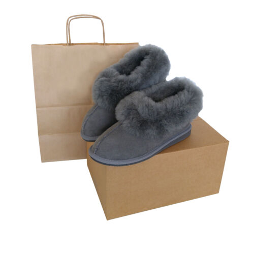 Sheepskin Suede Grey Deluxe nbsp;genuine New Slippers Quality Hard Sole High Women's awHH0Yq