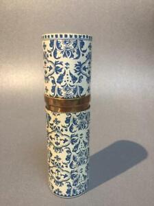 GUERLAIN-BLUE-WHITE-REFILLABLE-CASE-EAU-DE-TOILETTE-SHALIMAR-INNER-BOTTLE