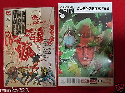 The Avengers Original Sin & DareDevil the Man Without Fear  comic book lot HOT