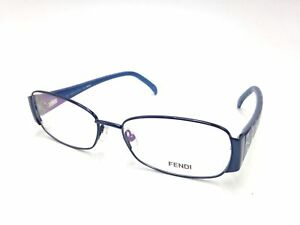 5a5e9bbf9d  450 FENDI WOMENS BLUE EYEGLASSES CLEAR LENS ITALY FRAMES FF GLASSES ...