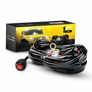 s l300 gooacc off road led light bar wiring harness kit 12v on off