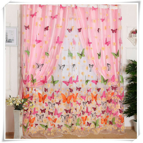 Window Pattern Balcony Scarf Voile Decor Panel Tulle Decro Curtain Room Sheer