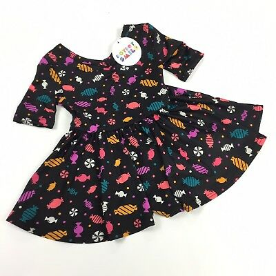 NEW DOT DOT SMILE Baby Girls 3//4 Sleeve Ballerina Dress NWT Size 6-12 months