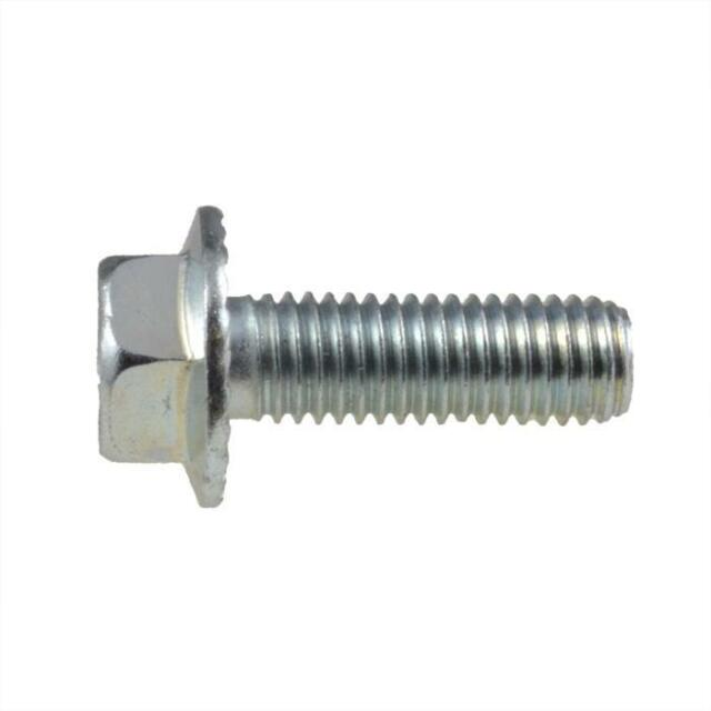 Hex Flange Bolt M8 (8mm) Metric Coarse Serrated Set Screw HT Class 8.8 Zinc