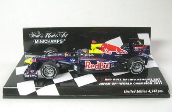 rouge Bull racing renault rb7 No. 1 p. ma grosse Japon GP world champion 2011