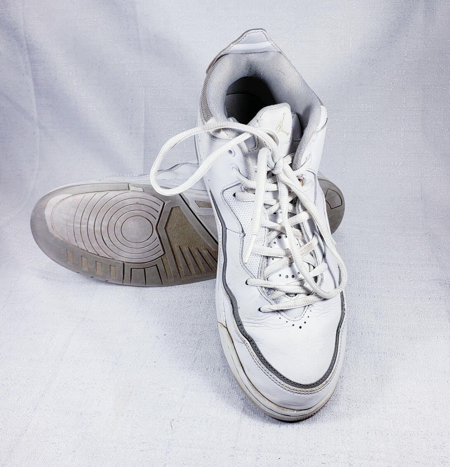 Men's Jordan High-top White Sneakers  Preowned Size 11.5