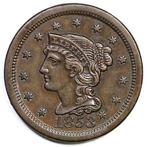 1853-N-20-R-3-Braided-Hair-Large-Cent-Coin-1c