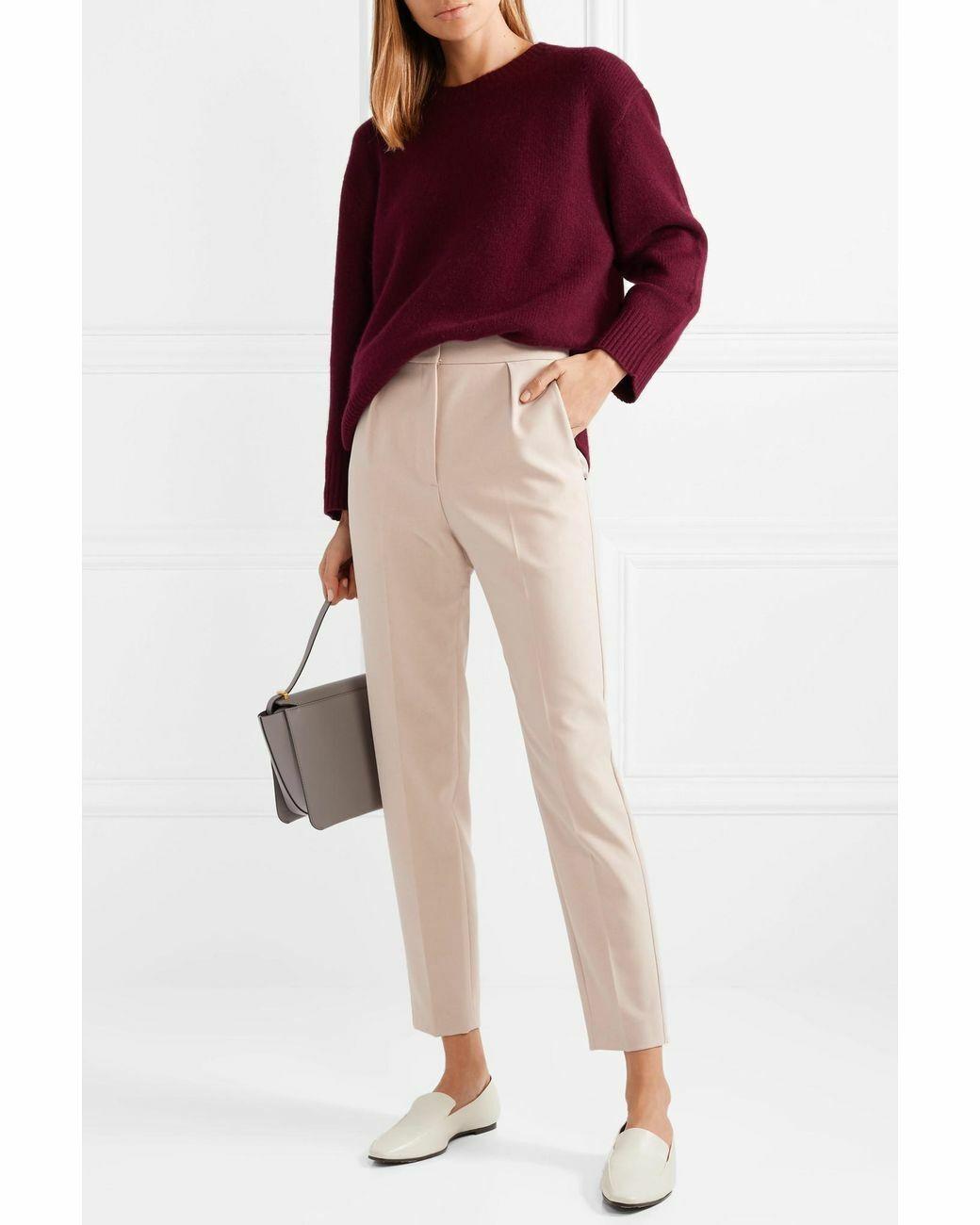 Theory Women's Pants Size 4 City Pant Petal Pink Prospective Light Stretch Twill
