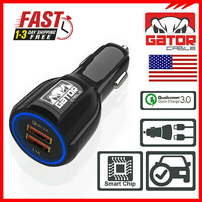8 Phone Quick Charge 3.0 Car Charger Qualcomm 5 Dual Port Car Adaptor USB Compatible with Nokia 3 Fast Charging Adapter 6//6.1 7//7 Plus