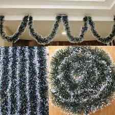 Weihnachtsgirlande Grün mit Schnee Christbaumschmuck Silvester Weihnachten Funny