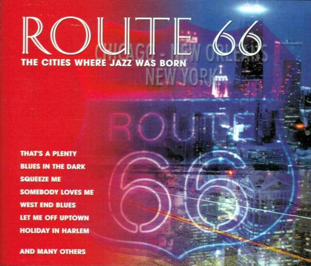 ROUTE 66 - The Cities Where Jazz Was Born // 3 Stück CD - Set