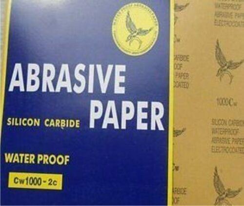 10 Stück Schleifpapier Bögen 230x280 in P150 Wasserfest Wasserschleifpapier