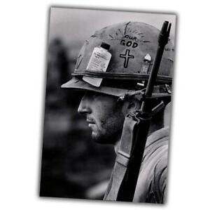 Vietnam-War-Photo-memory-of-the-Vietnam-war-soldier-in-a-helmet-size-4x6-N