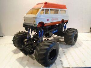 Vintage Tonka Ambulance Monster Truck New Bright Rc Control Ebay