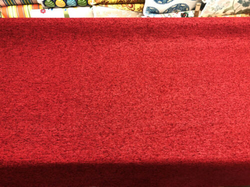 Ruby Red Chenille Solid Upholstery fabric By The Yard chair couch pillow