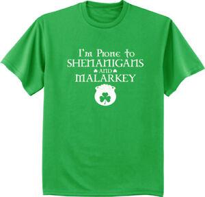 832216e4e Funny St Patrick's Day T-shirt - shenanigans and malarkey men's ...