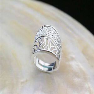 Wholesale-925-Sterling-Silver-Plated-Women-Fashion-Wide-Face-Rings-SIZE-Open-NEW