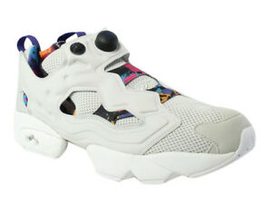 a7af17a2400 Reebok Mens Instapump Fury AR Grey White Purple running shoe Size ...