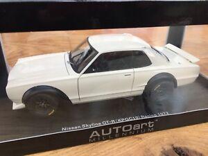Autoart-87277-87279-Nissan-Skyline-GT-R-KPGC-10-carreras-de-coches-modelo-1972-1-18th