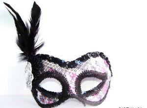 Burlesque Black Feather Eye Mask