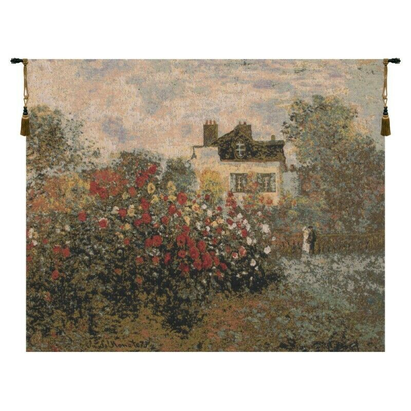 The House Of Claude Monet European Tapestry Wall Hanging