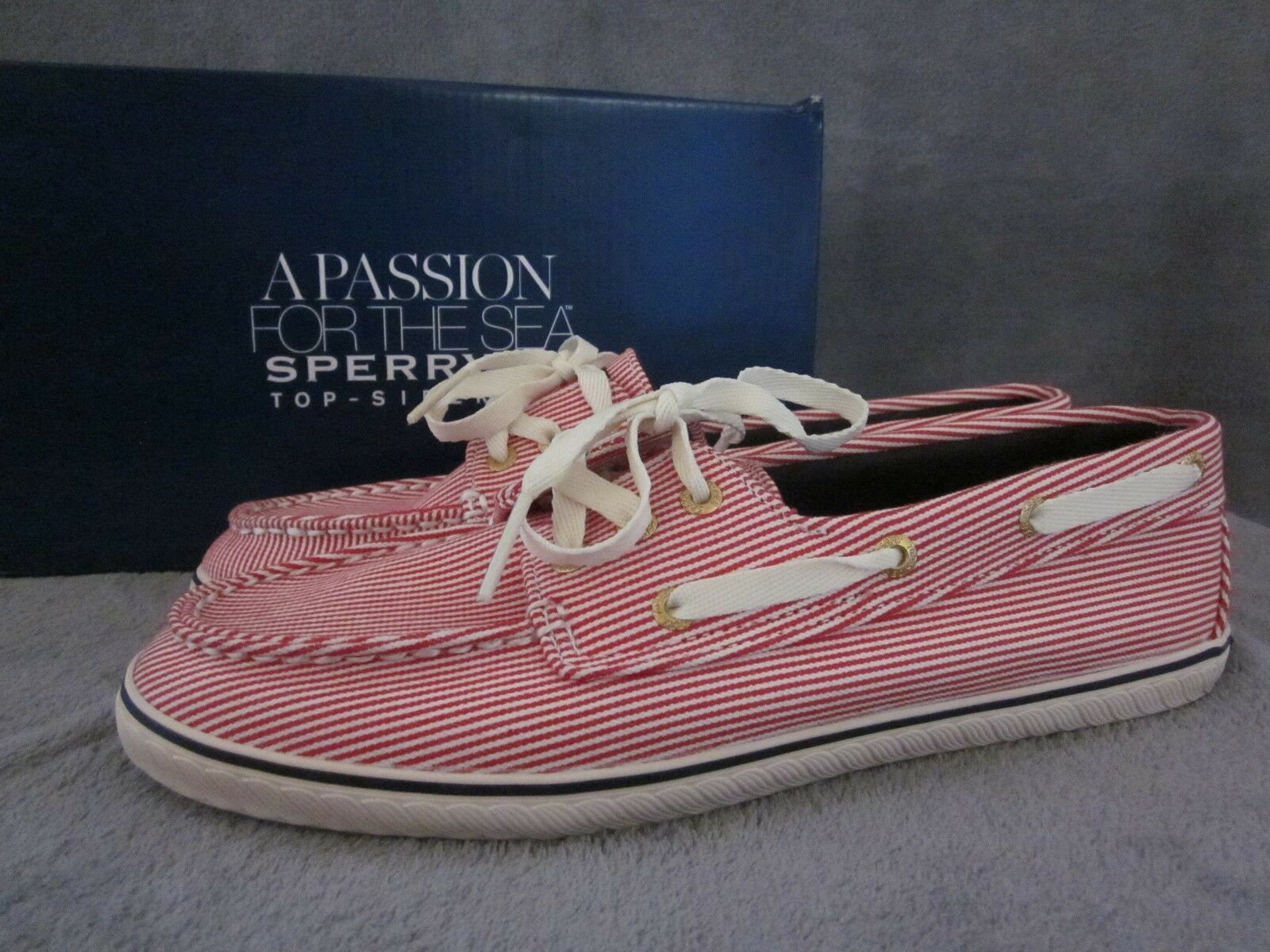 SPERRY Top Sider Cruiser Red & Ivory Engineer Boat shoes US 8.5 M NWB