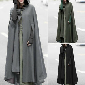 d17bda8a148 ZANZEA 10-24 Women Long Maxi Cape Poncho Jacket Coat Outerwear Plus ...