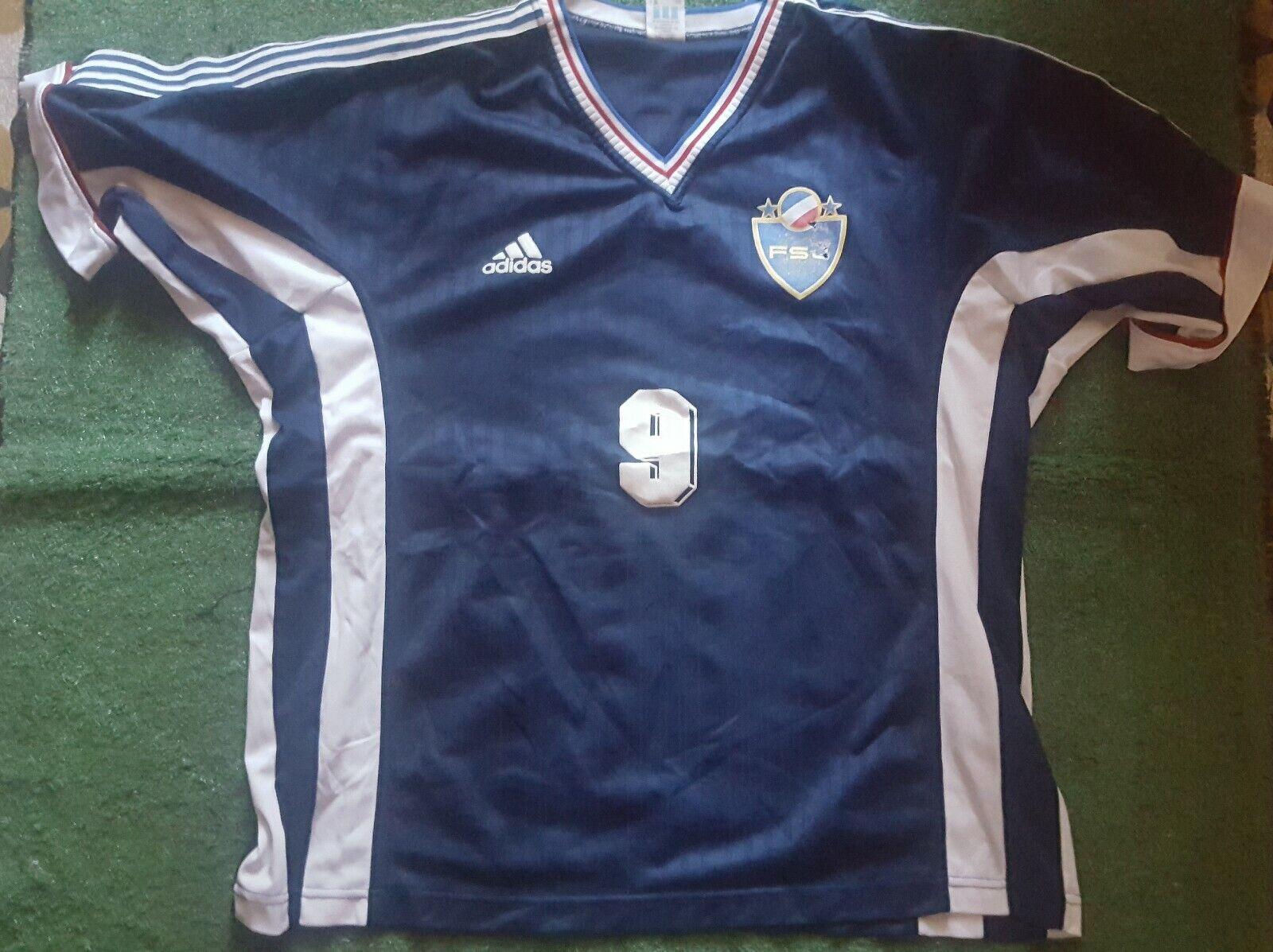 JUGOSLAVIA FSJ 19982000 Mijatovic TRIKOT SHIRT FOOTBALL VINTAGE adidas maglia