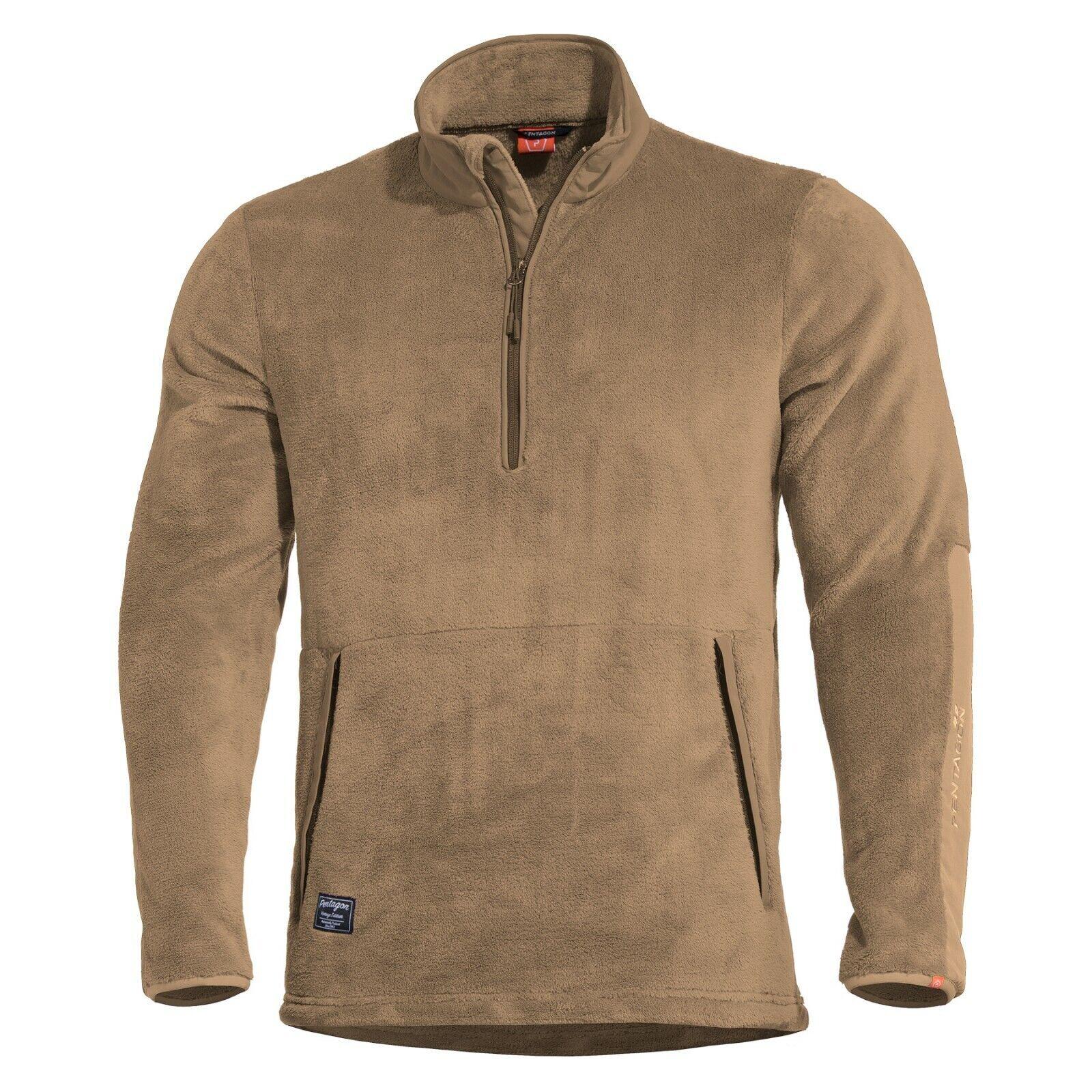 aab424db01951e Pentagon Sweatshirt Herren Jacke Militär Outdoor Trekking Grizzly Coyote