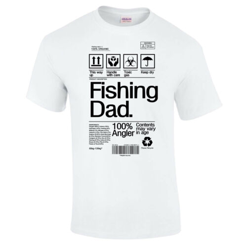 Fishing Dad T-Shirt Product Label Father/'s Day Dad Grandad Carp Bass Funny Gift