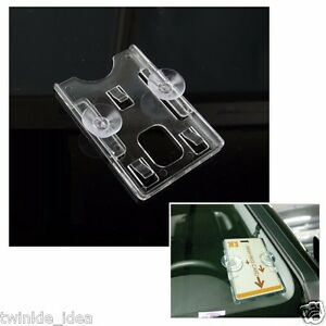 image is loading clear acrylic vertical business card holder rubber suction - Vertical Business Card Holder