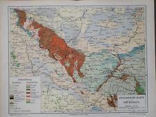 Landkarte, Geologische Karte von Thüringen, Meyer 1896