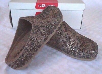 Acquista A Buon Mercato Pantofole Rohde Sandali Feltro Beige/oro Serpente 6016 Antishock N. 37 Riesa-mostra Il Titolo Originale Forma Elegante