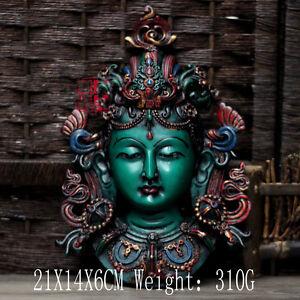 Buddha Tibet Tibetan Mikky Buddhist Resin Colored Green Tara Statue Pendant