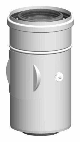 ATEC Abgas Kontroll-Rohr DN 80//125 konzentrisch Abgasrohr Kontrollrohr Schacht
