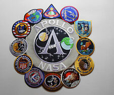 Apollo Mission Patch Collage 1,7,8,9,10,11,12,13,14,15,16,17 NASA Made In USA