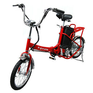 Electric-Folding-Bicycle-16-034-Beautiful-Red-Finish-Edgy-Motor-Bike