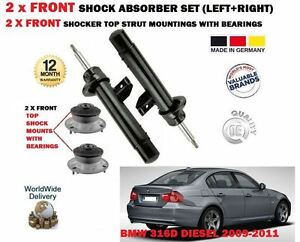 FOR-BMW-316D-E90-2009-2011-2x-FRONT-SHOCK-ABSORBER-SET-2x-STRUT-MOUNTINGS-KIT