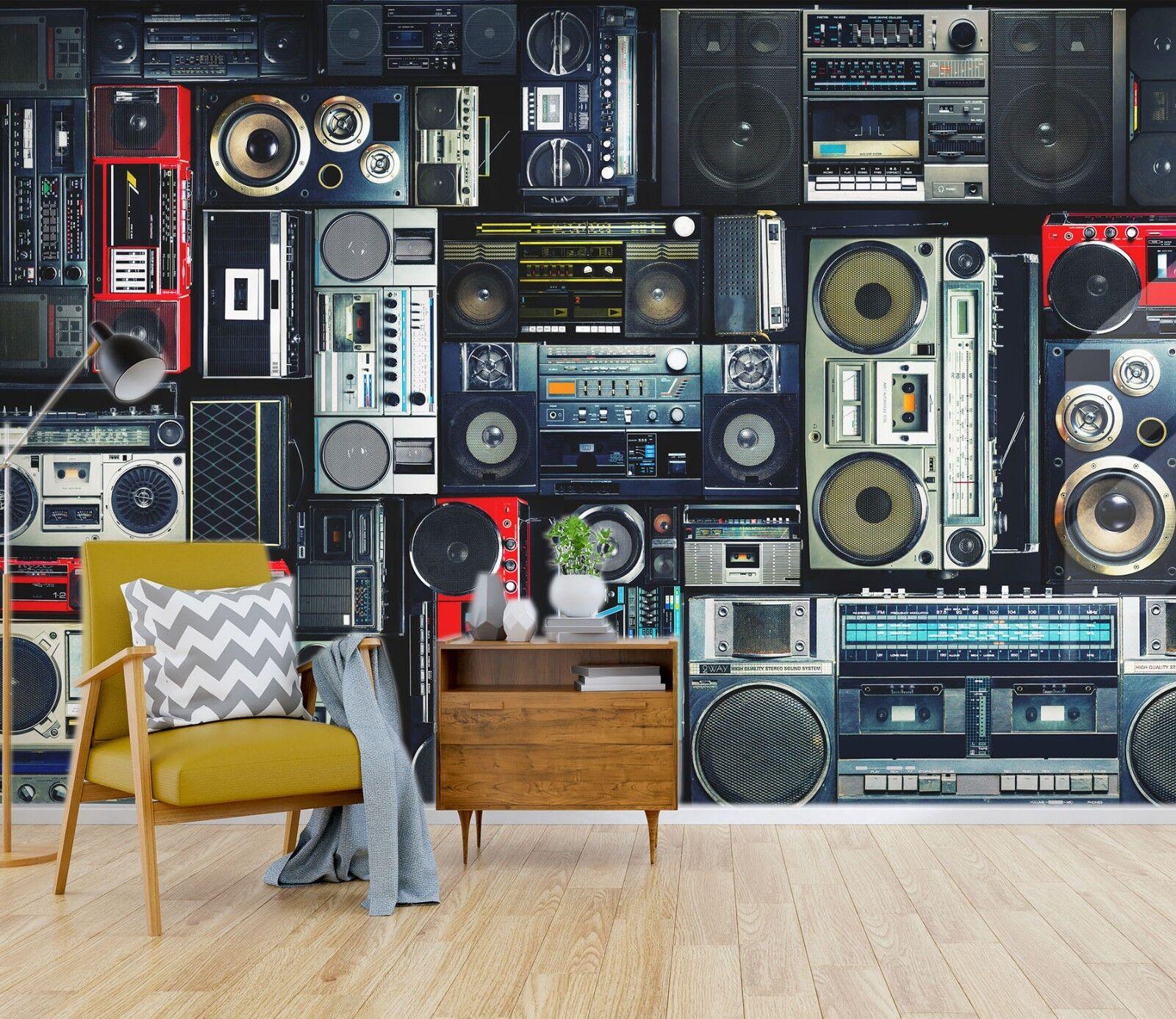 3D Radio Speakers 452 Wallpaper Murals Wall Print Wallpaper Mural AJ WALL UK