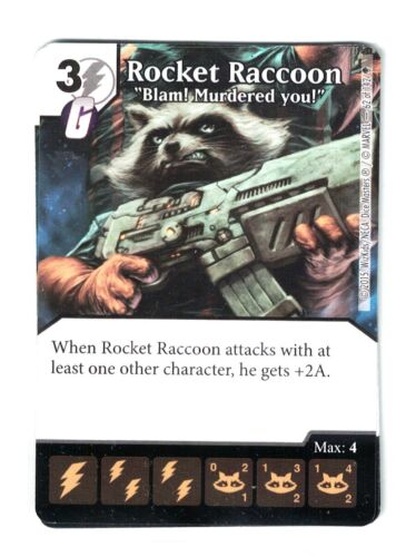 Marvel Dice Masters AOU, Rocket Raccoon Blam! Murdered You! 62/142 W/Dice