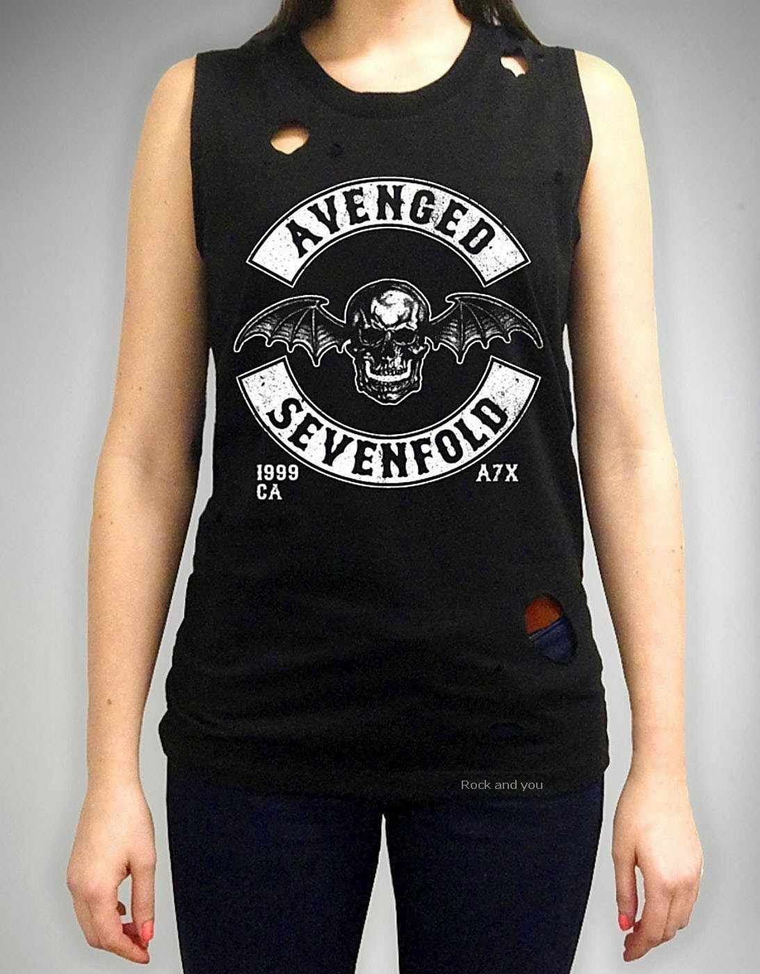 AVENGED SEVENFOLD Destroyed Logo CONCERT TEE Synyster Gates M SHADOWS A7X TSHIRT
