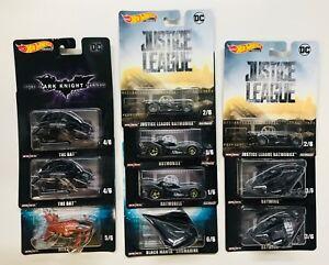 Hot-Wheels-Retro-Entertainment-2019-L-Case-Justice-Batmobile-Batwing-10-CARS