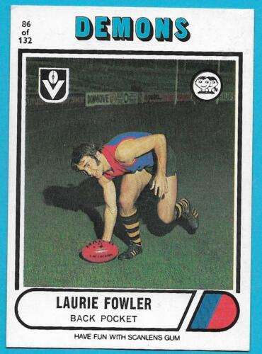 1976 Scanlens 86 Laurie FOWLER Melbourne Excellent