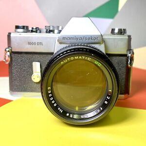 Mamiya-Sekor-1000-DTL-35mm-Spiegelreflexkamera-135mm-f-2-8-Objektiv-Film-getestet