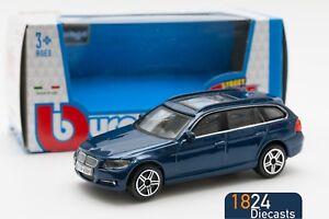 BMW-serie-3-Touring-en-azul-Bburago-escala-18-30220-1-43-Modelo-De-Juguete-Regalo-Nino