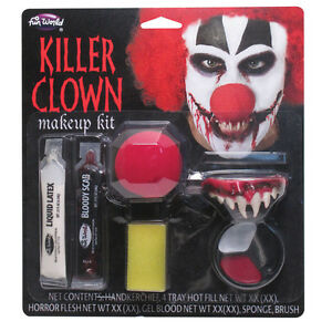Make Up Kit Pour Horreur #killer Clown Fancy Dress Halloween Party-afficher Le Titre D'origine En Quantité LimitéE
