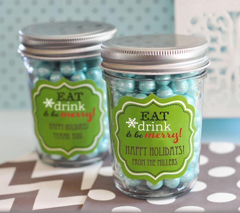 96 Personalized Winter Wedding Theme Mini Mason Jars Wedding Favor Candy Jars